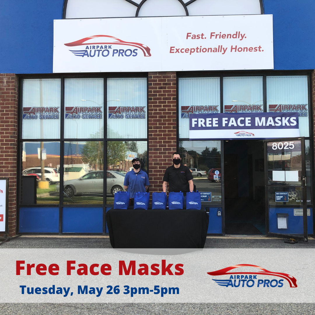Free Face Masks | Airpark Auto Pros